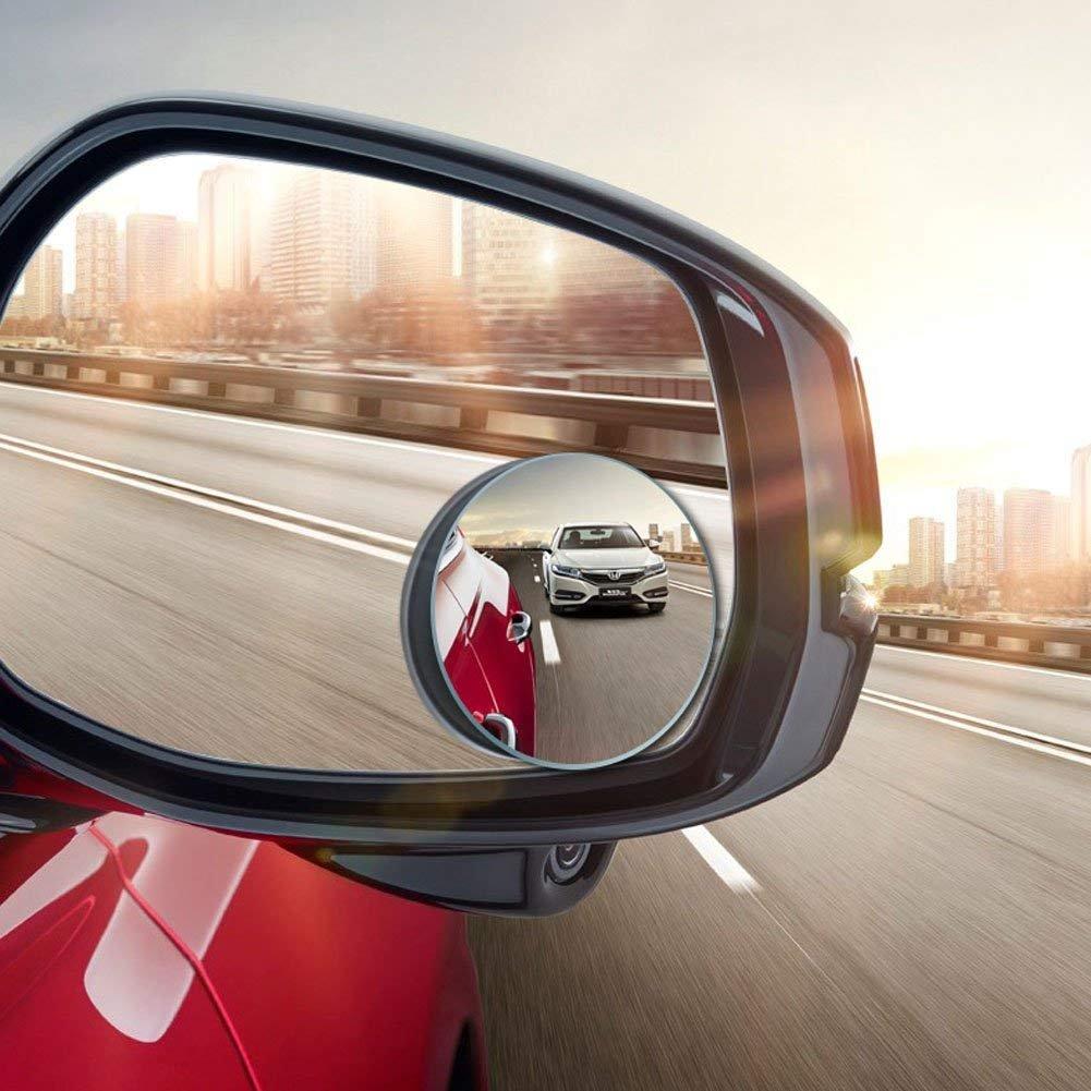 Specchi laterali convessi per angolo morto,rotabili di 360° , design adesivo, rotabile, in vetro HD,vetro convesso di alta qualità , per auto, camion e SUV (frameless) rotabili di 360° vetro convesso di alta qualità MRCARTOOL
