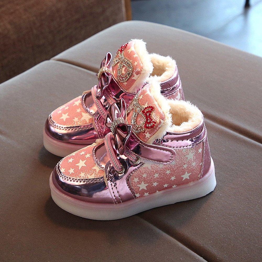 IMJONO Baby M/ädchen Jungen Lauflernschuhe Sneaker LED Beleuchten Oben Leuchtende