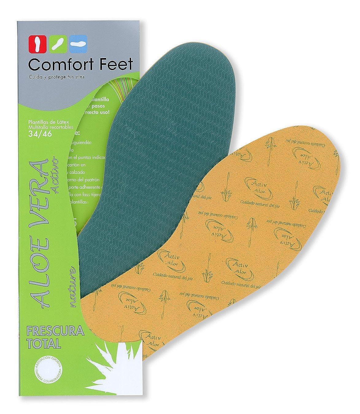 Comfortfeet Plantilla Multitalla con Tratamiento de Aloe Vera proporcionando Una Sensación de frescor. (Basic) I37nE65