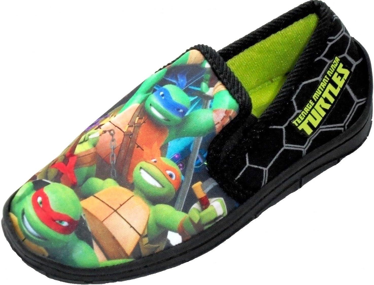Disney Ninja Turtles, Chaussons Pour Garçon Noir NoirVert