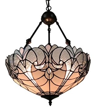 Amora Lighting AM263HL18 Tiffany Style Hanging Pendant Chandelier