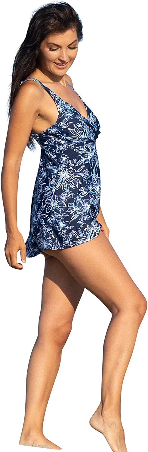 Patented Womens One-Piece Bathing-Suit Max 82% OFF Ultra-Cheap Deals Bloom Glimmer Dress Swim