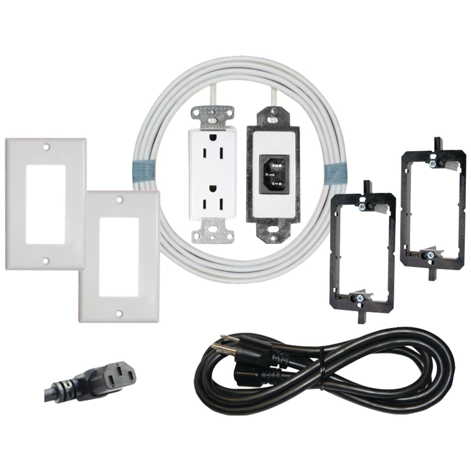 Wondrous Amazon Com Midlite Power Jumper Hdtv Power Relocation Cable With Wiring 101 Tzicihahutechinfo