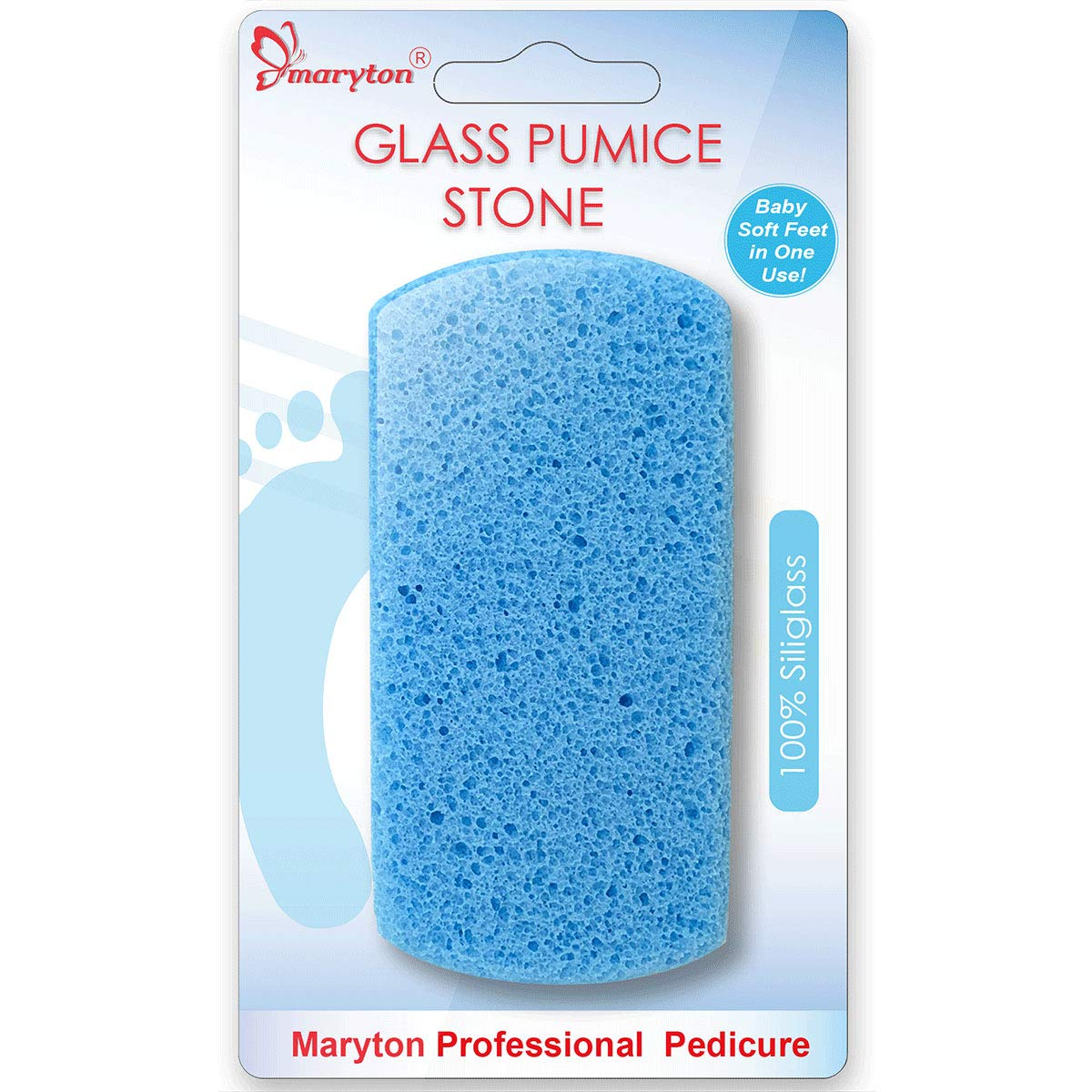 Double Sided Pumice Stone for Feet Hard Skin 100% Siliglass Callus Remover, Exfoliates Feet & Smooths Skin: Beauty
