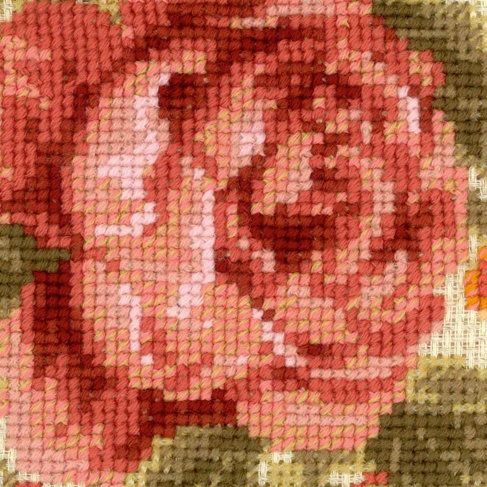 Baumwolle Mehrfarbig 40 x 40 x 0.1 cm Riolis Abendgarten Kissen Kreuzstich-Set