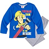 Feuerwehrmann Sam Kollektion 2017 Schlafanzug 98 104 110 116 122 128 134 140 Pyjama Fireman Sam Jungen Neu Blau