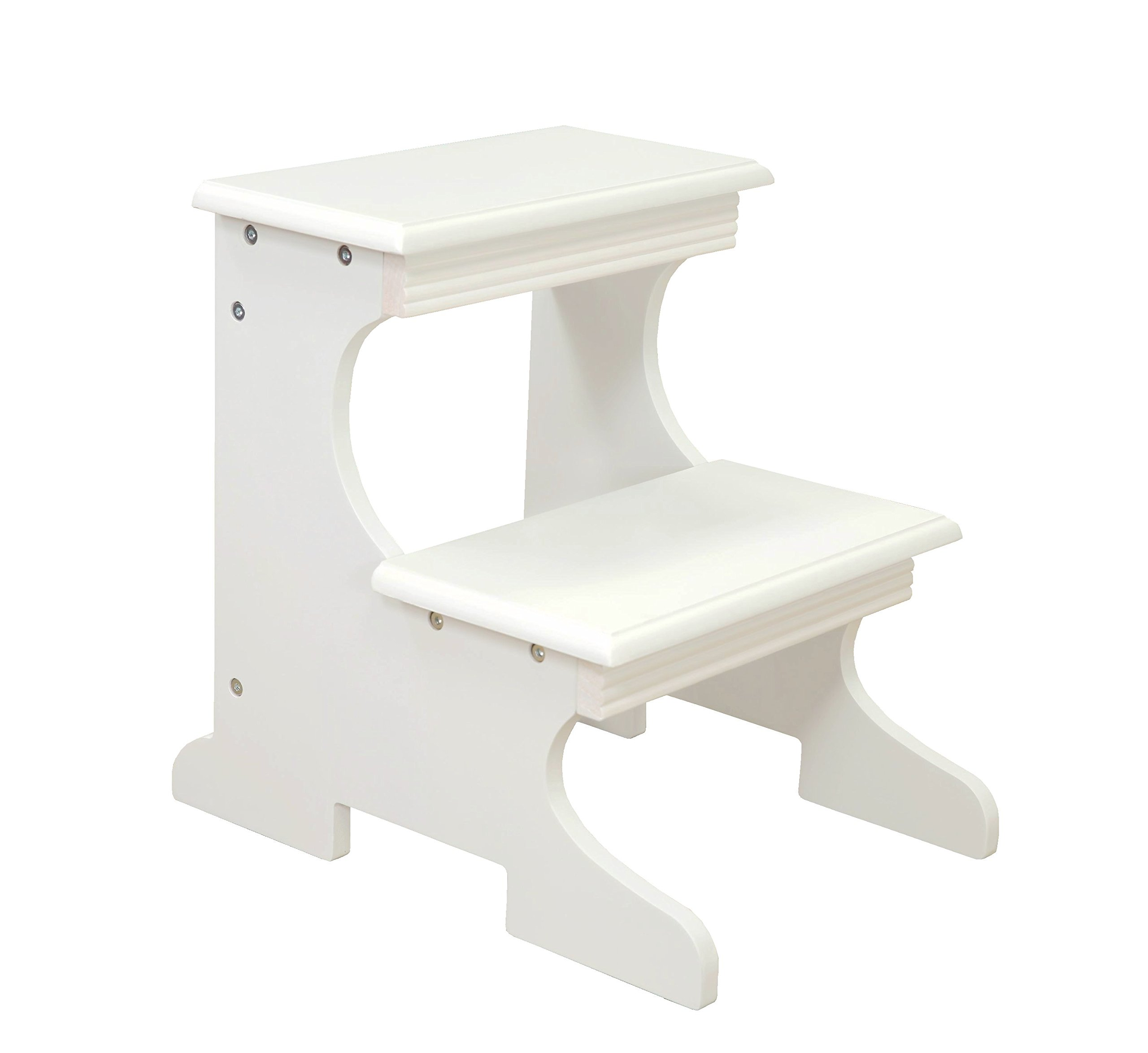 Frenchi Home Furnishing Step Stool, White by Frenchi Home Furnishing