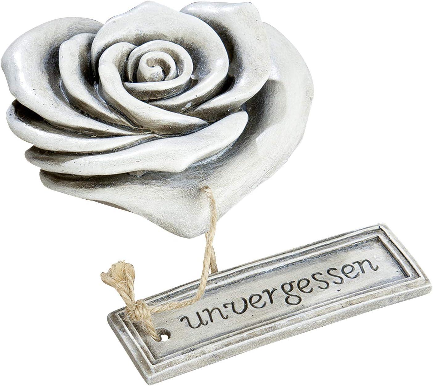 11+15cm Gartendeko Deko Rose Knospe 2er Set Blüte