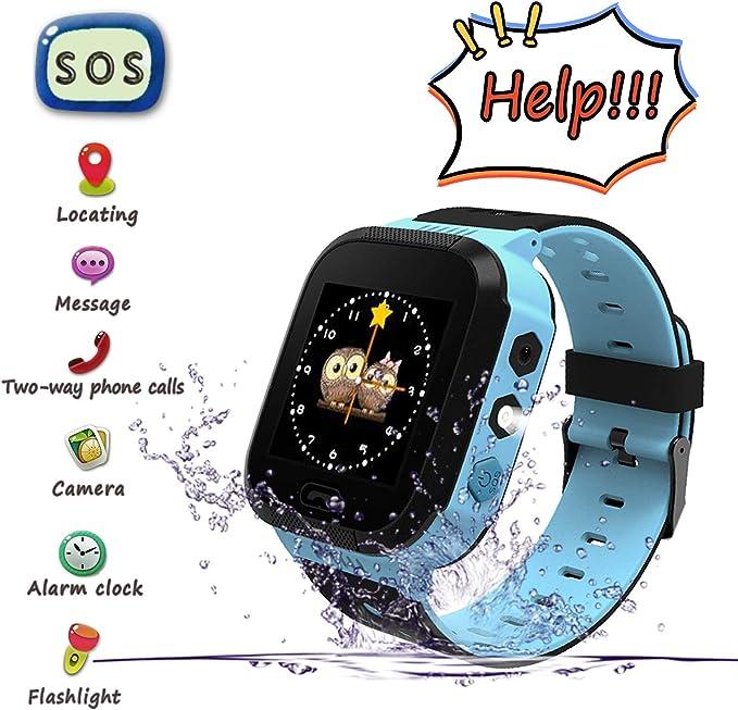 Smartwatch para Niños, Llamada de Emergencia SOS, localizador GPS ...