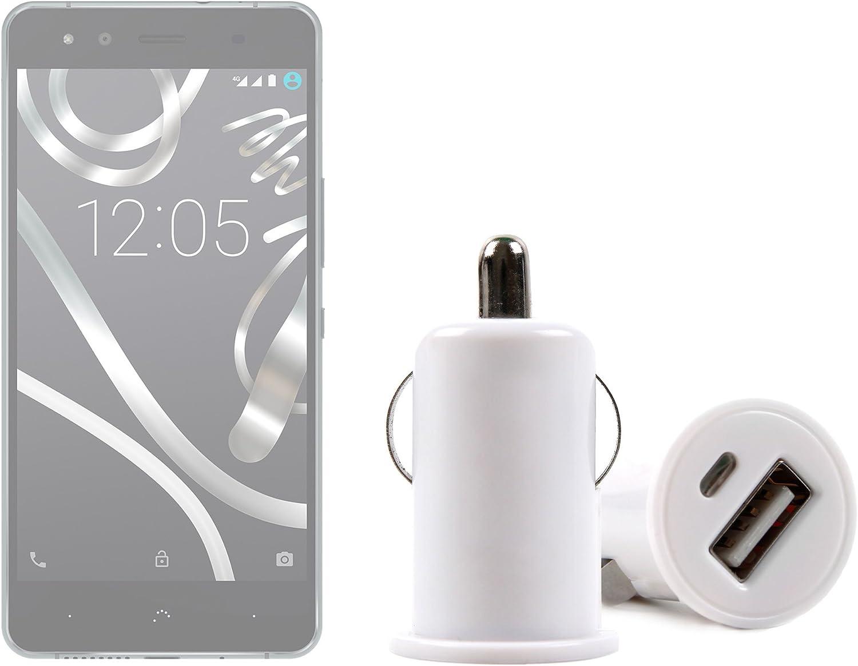 DURAGADGET Cargador Mechero del Coche con Puerto USB para Smartphone BQ Aquaris U Lite/U Plus/U / X5 Plus: Amazon.es: Electrónica