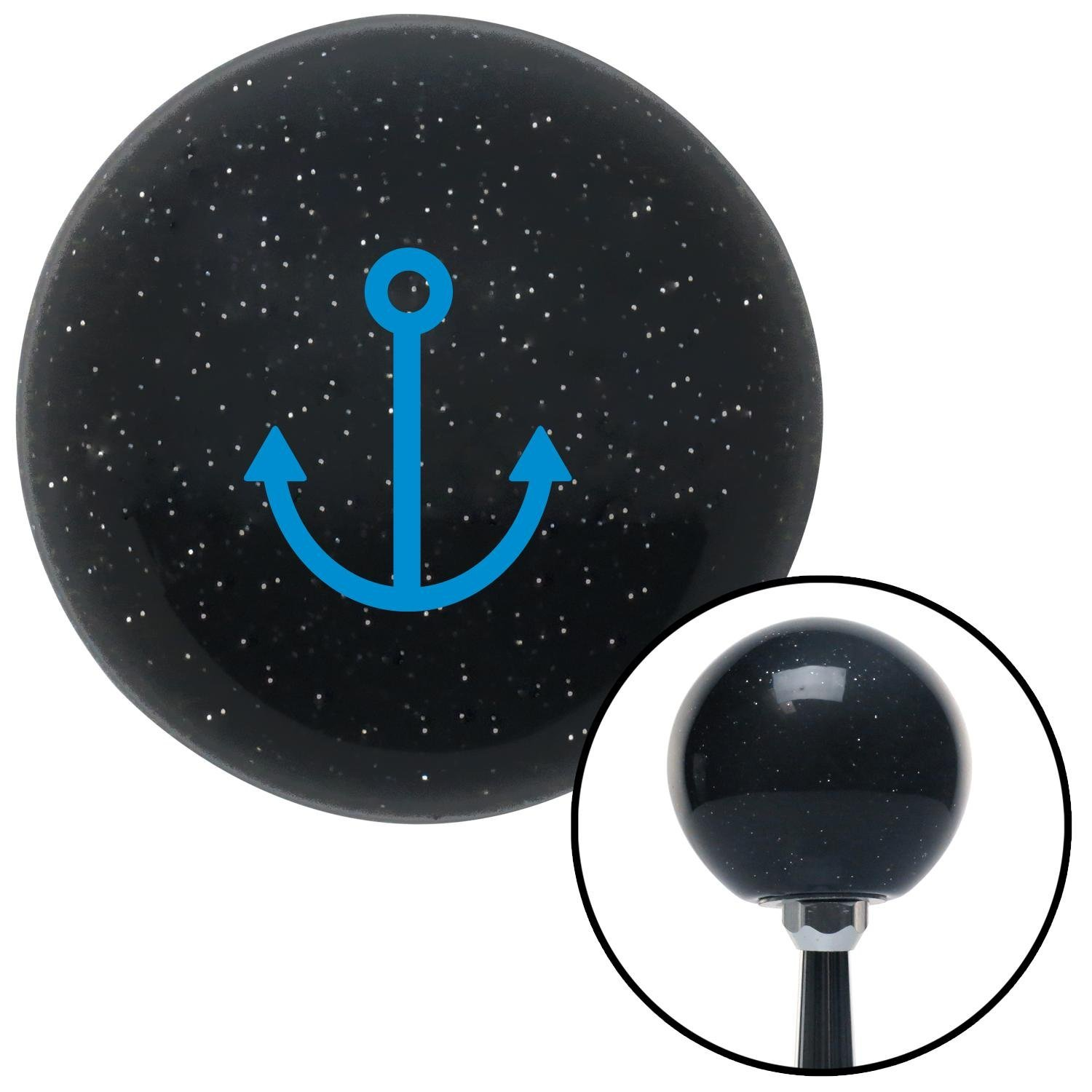 Blue Anchor Design American Shifter 72670 Black Metal Flake Shift Knob with M16 x 1.5 Insert