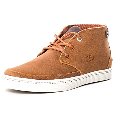 6b44ad9660edc8 Lacoste Mens Brown Clavel 18 Chukka Boots  Amazon.co.uk  Shoes   Bags