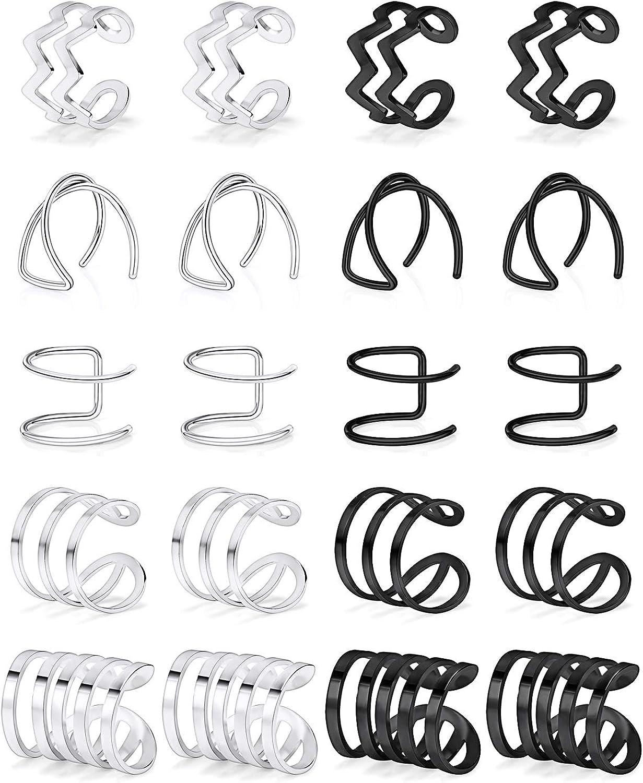 Lcolyoli 10 Pairs Ear Cuffs...