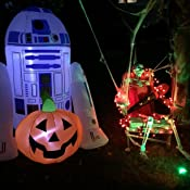 Amazon.com: Halloween Star Wars 5 r2d2 W/calabaza inflable ...