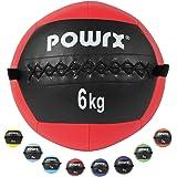POWRX - Wall ball palla medica 2-10 kg - (6 kg/Rosso)