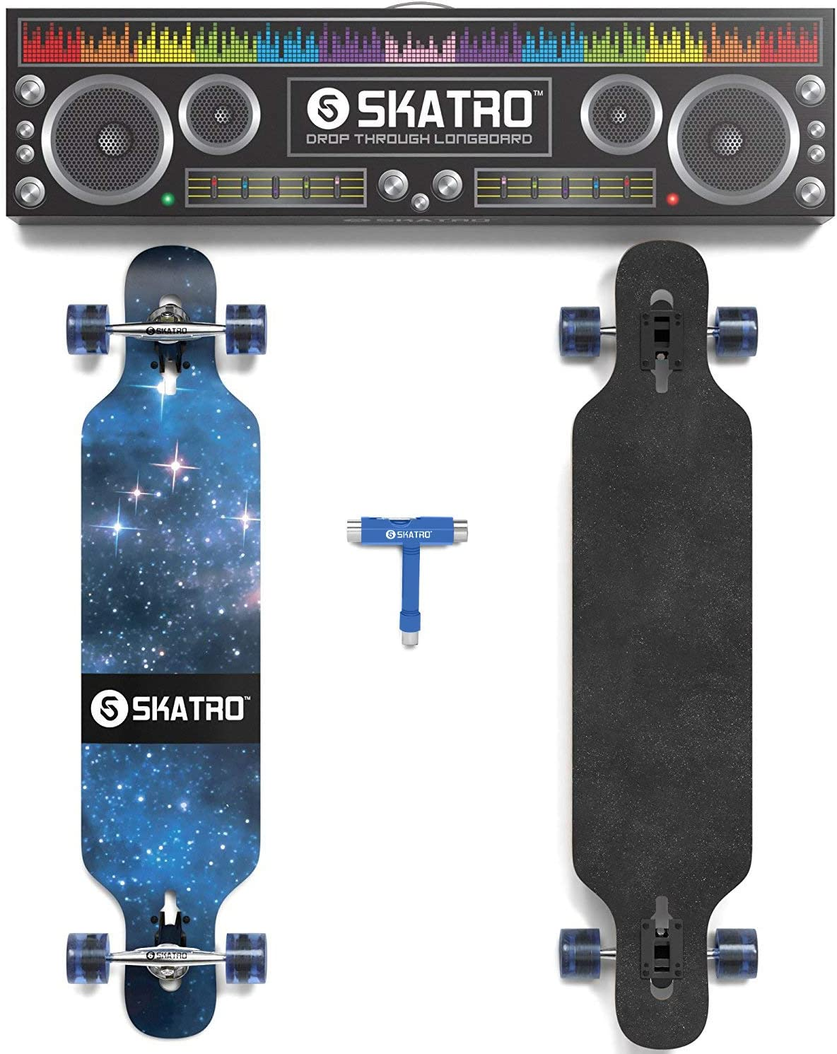 skatro Drop through Longboard skateboard freeride - 1