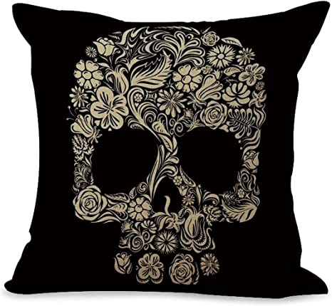 Day of the Dead sugar skull cushion cover home decoration make pillow