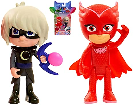 "Pj Masks Owlette & Luna Girl Figures Two Pack 3"" Hot New Cartoon Release """