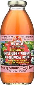 Bragg Organic Apple Cider Vinegar - Pomegranate and Goji Berry - Case of 12-16 Fl oz.