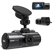 Vantrue N4 3 Channel Dash Cam, 4K+1080P Dual Channel, 1440P+1080P+1080P Front Inside Rear Three Way Triple Car Dash…
