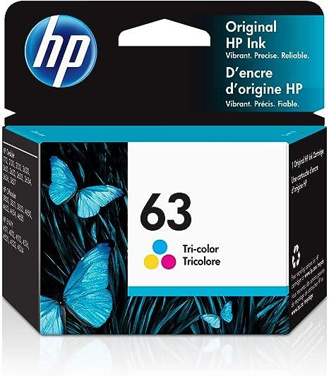 Hp 63 Tri Colour Original Ink Cartridge F6u61an By Hp Bürobedarf Schreibwaren