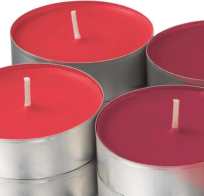 Ikea SINNLIG Velas perfumadas (59 mm, 24 Unidades), diseño de Bayas de jardín, Color Rojo