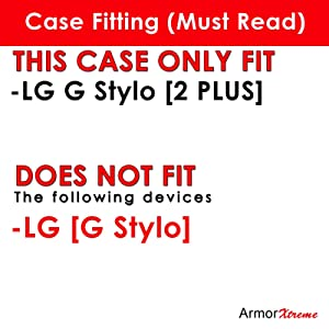 [ArmorXtreme] Black Phone Case [Shell Hard Cover] Designer Image - D for LG [G Stylo 2 Plus] [G Stylus 2 Plus]