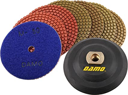 "5/"" Wet Diamond Polishing Pad Grit 800 for Granite//Concrete//Marble Countertop"