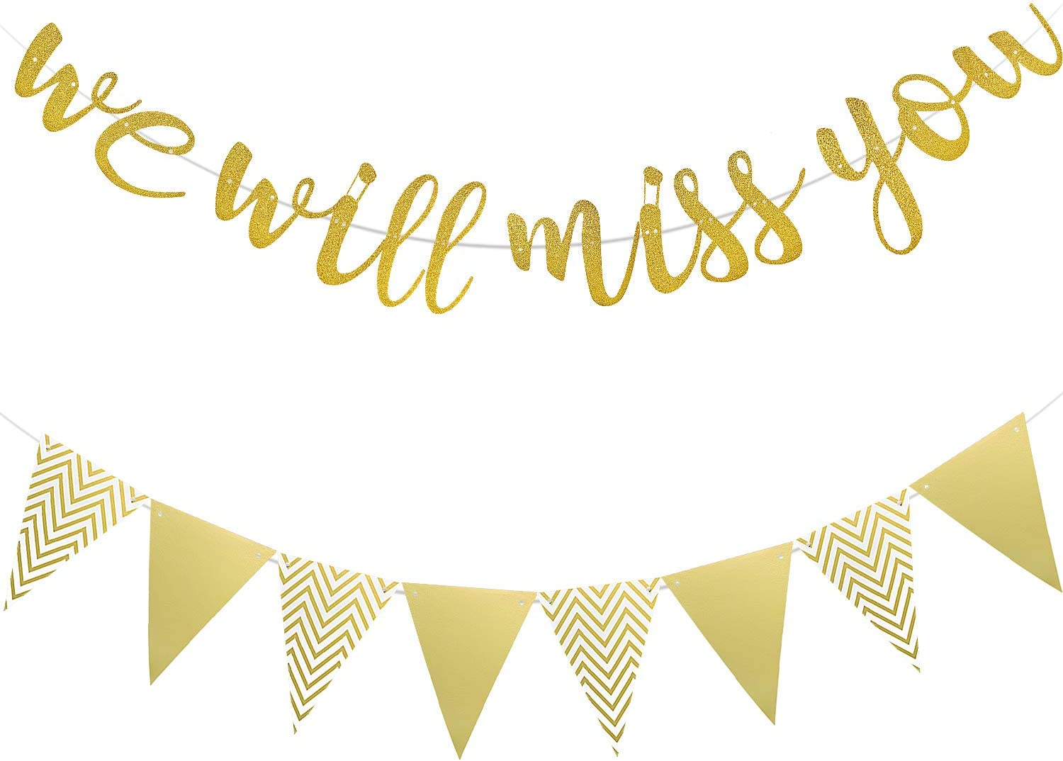 Retirement//Going Away//Farewell Party Decorations Supplies Retirement Decorations Gold Happy Retirement Banner