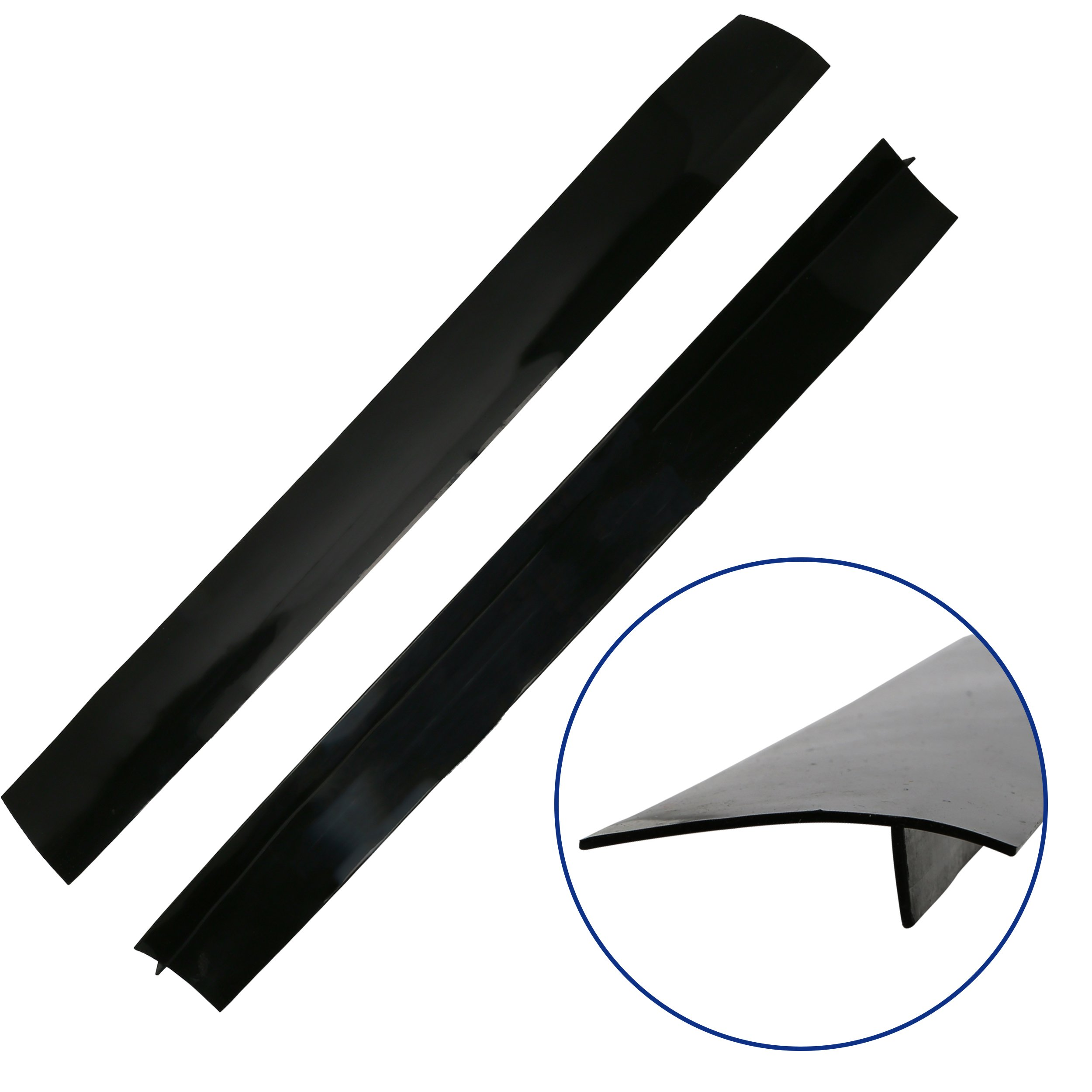 Stove Gap Covers, Set of 2 Black, Flexible Silicone Gap Covers, Seal the Gap Next to your Stove, McClure's Gap Caps