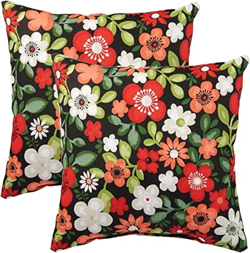 Comfort Classics Inc. Set of 2 Indoor/Outdoor Throw Pillow 12″ x 12″ x 4″
