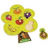 Janod - J07061 - Puzzle Bois Arbre gourmand 6 pcs