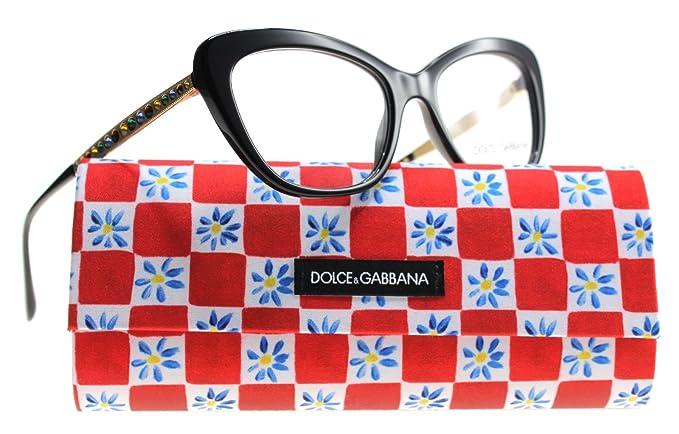 Dolce & Gabbana Dg3275b 501 Occhiale Da Vista Nero Black Eyeglasses Donna New k7LATxqAuW