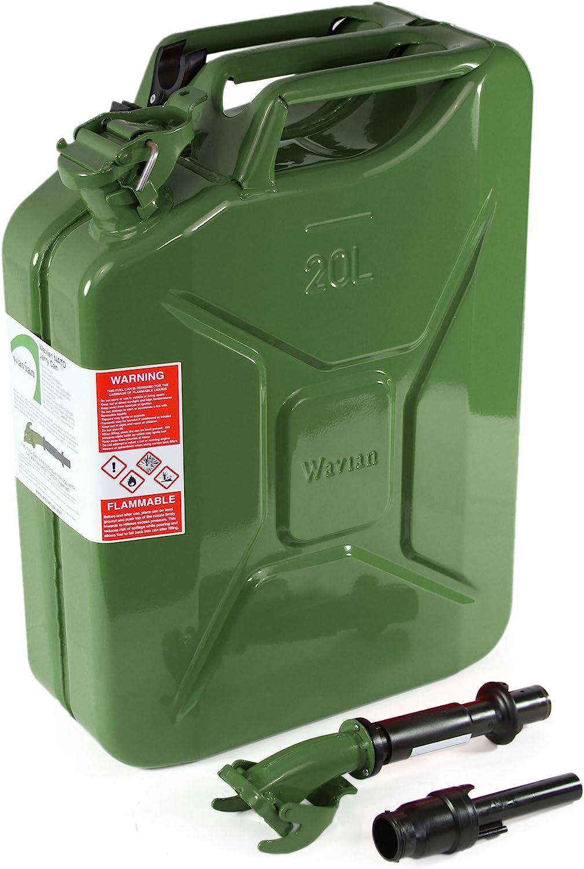Boquilla Jerry Can Bidones y garrafas de combustible Metal Jerry Can Spout con Manguera para jerry can bidones de aceite no incluidos