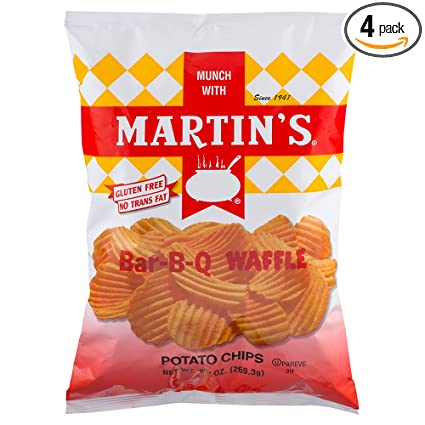 Martin de Bar-B-Q Waffle patatas chips 9,5 oz (4 unidades ...