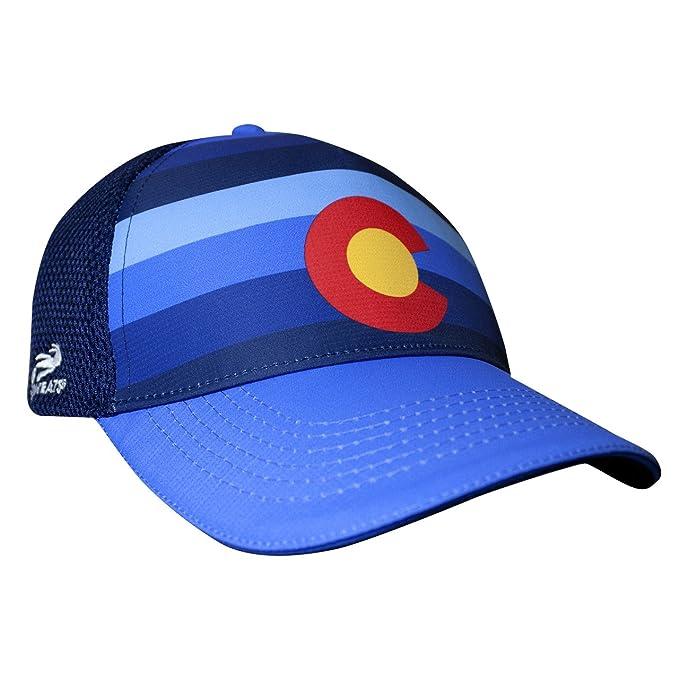 6a68945a Amazon.com: Headsweats Colorado Blues 5-Panel Trucker Hat, Blue, One Size:  Clothing