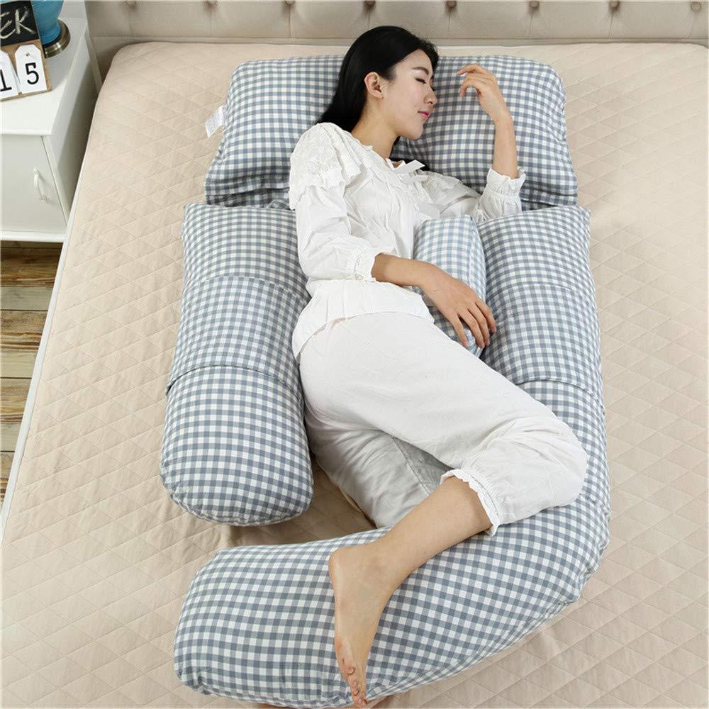 Almohada de Cu/ña con Lavable Funda Almohada de Maternidad para el Cuerpo Completo,Cojin Lactancia Embarazada,Almohada de Apoyo al Embarazo,Almohada de Enfermer/ía Forma de U
