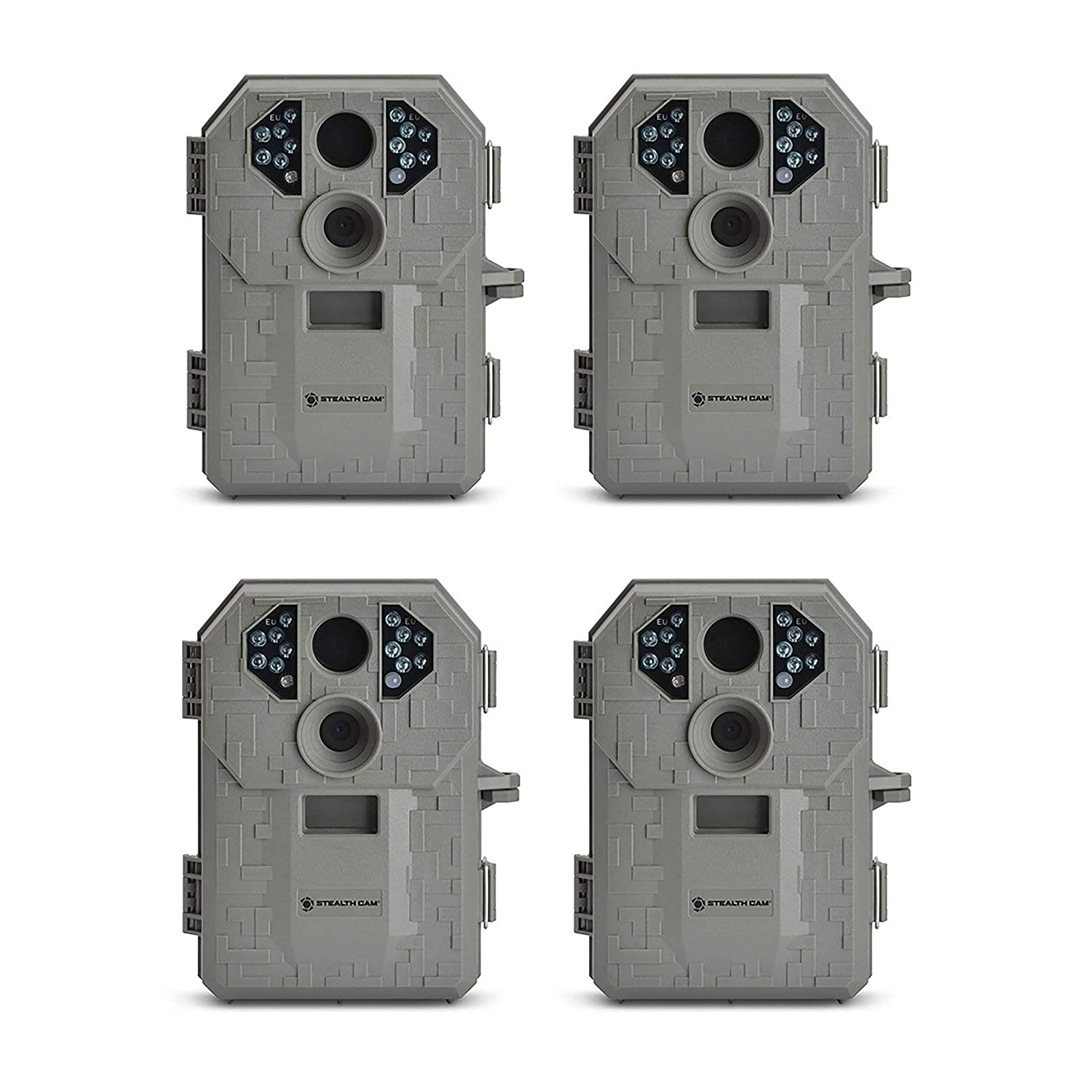 Stealth Cam P12 IR 6.0 MP Scouting Trail Hunting Game Camera with Video 4 Pack