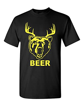 621f74687 Amazon.com: New Beer Deer Bear Sunny Mac Funny TV Adult T-Shirt Tee ...