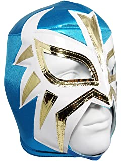 LA MASCARA Adult Lucha Libre Wrestling Mask (pro-fit) Costume Wear - Powder