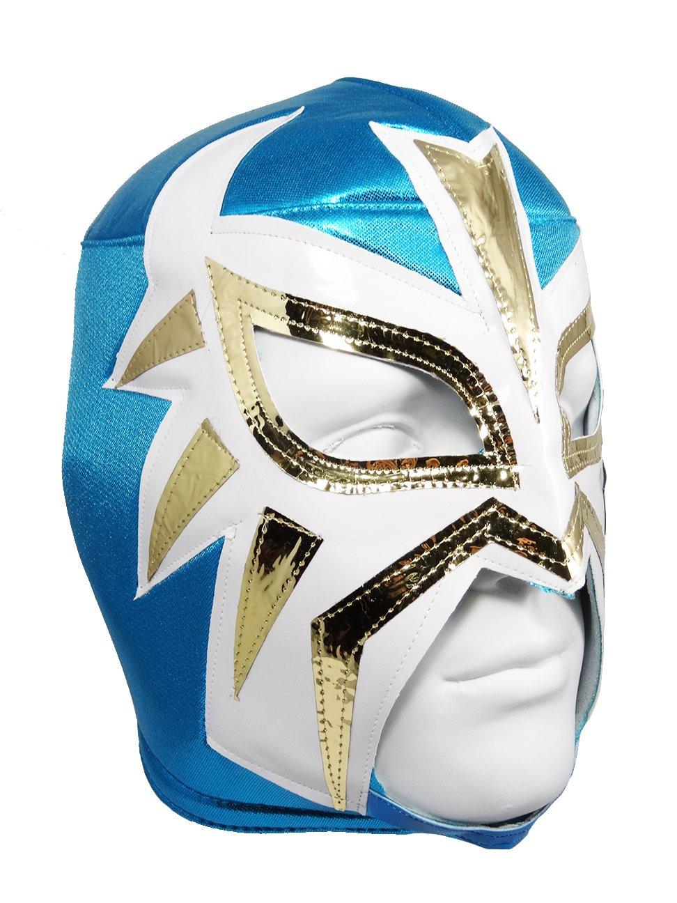 LA MASCARA Adult Lucha Libre Wrestling Mask (pro-fit) Costume Wear - Powder Blue