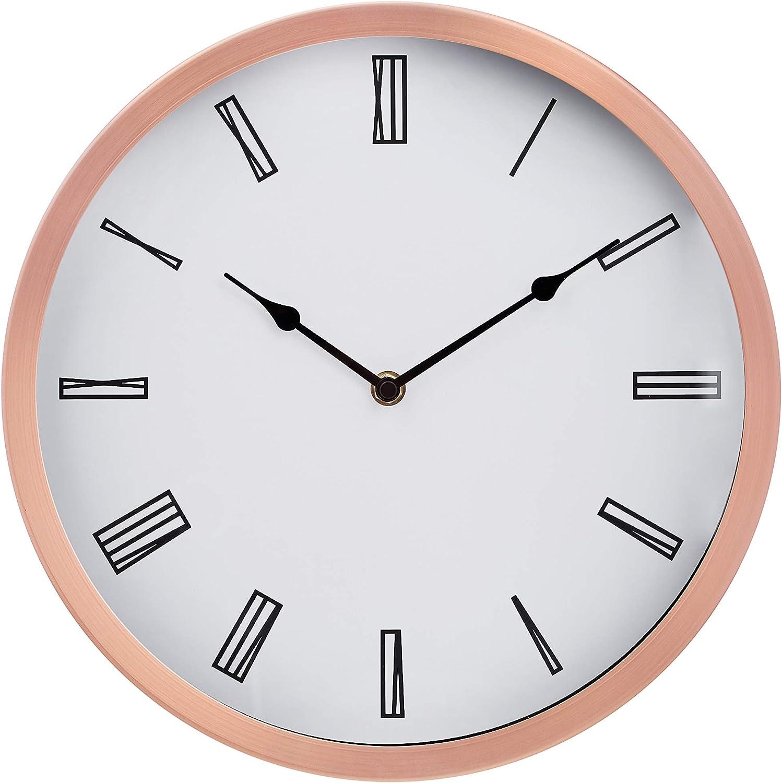 "AmazonBasics 12"" Roman Wall Clock, Copper"