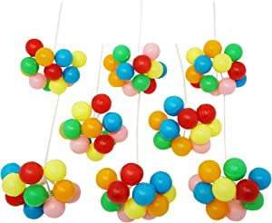 Rainbow Balloon Cluster Cake & Cupcake Decorative Topper & Pick - 8 Clusters Per Pack, 7 Inch Long