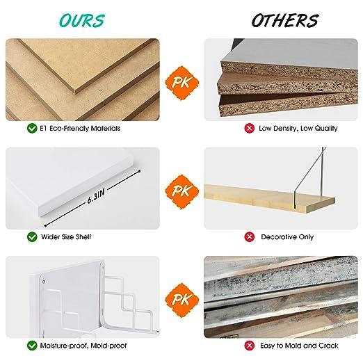 Amazon.com: SIWUTIAO Floating Shelves Wall Mounted for ...