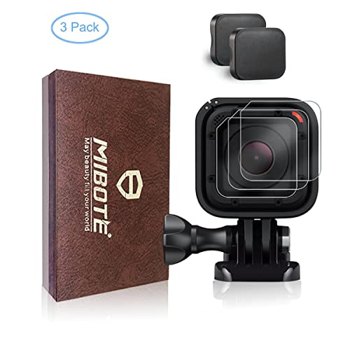 Lot de 3protecteur d'écran et 2couvre-objectifs pour GoPro Hero4Hero5Session