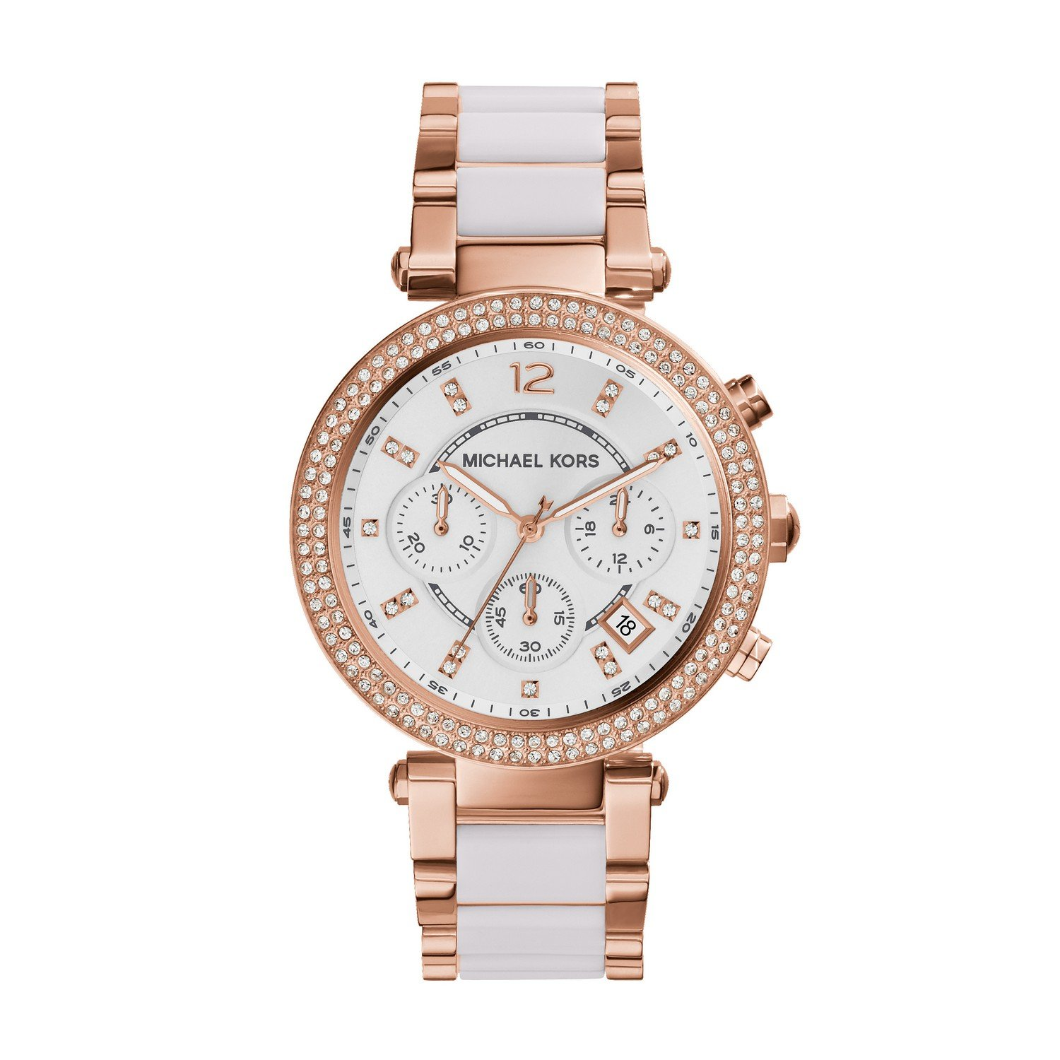 Amazon.com: Michael Kors Women\'s Parker Rose Gold-Tone Watch ...
