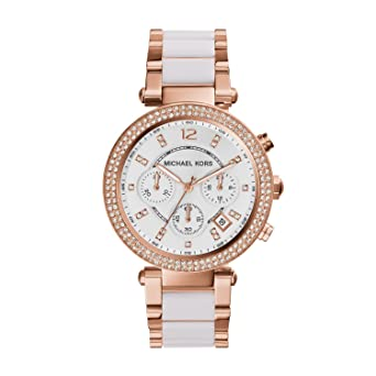 104ebf7634f3 Amazon.com  Michael Kors Women s Parker Rose Gold-Tone Watch MK5774 ...