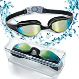 HYX Swim Goggles, Swimming Goggles with Flexible Soft Nose Bridge and Coloured Mirror Lenses, No Leaking Anti Fog UV Protection Triathlon Swim Goggles for Adult Men Women Youth Kids