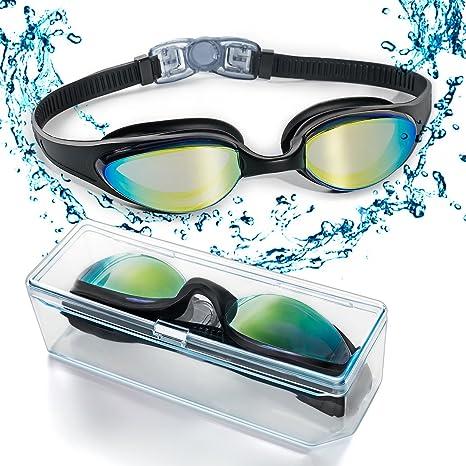 9812924fd4 Occhialini da nuoto, occhialini da nuoto con ponte nasale morbido e  flessibile e lenti colorate