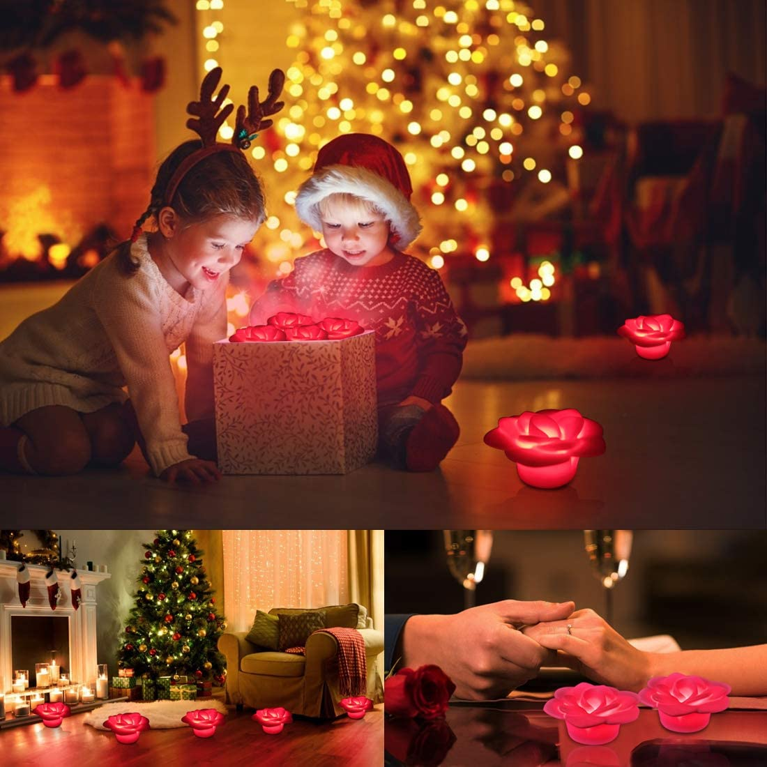 Hot Tub Light Up Flower Light Gift for Propose Lover Friends Wedding Family Children Birthday Party Swimming -2pcs IP68 Waterproof Floating Pool Light LED Spa Night Light LED Bathtub Light
